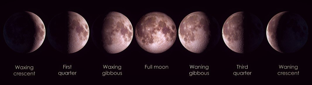 Moon Phases Names and Order